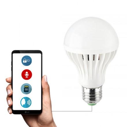 Reportofon + Microfon Spion GSM 4G NanoSim Integrat in Bec Econimic 12W- Control prin Aplicatie (iOS / Android) - Smartech [BC-FYD]