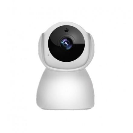 Camera De Supraveghere Interior Smartech Self-Protect Wifi - PTZ Rotatie 360 - NightVision  - Alarmare - 64GB - HD - Monitorizare in Timp real - Instalare Rapida [H14]