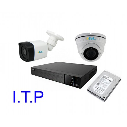 Sistem Supraveghere Video Pentru Statie ITP Q-See DVR 4CH + Doua Camere ESP&DV 1080P IR + HDD 4TB [SIT2]