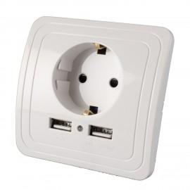 Microfon Spion GSM Profesional Integrat in Priza 220V + USB - Activare Vocala [MDKR-USB12]