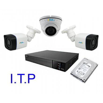 Sistem Supraveghere Video Pentru Statie ITP Q-See DVR 4CH + Trei Camere ESP&DV 1080P IR + HDD 6TB [SIT3]
