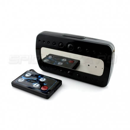 Ceas Digital cu Microcamera Spion Full HD Black Pearl 1920x1080P Nightvision 32GB - v3 [BKP-11]