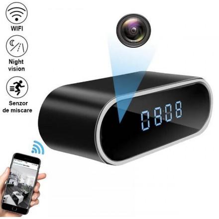 Camera Spion HD WiFi Invizibila cu Nightvision 1080P Integrata in Ceas cu Camera - Monitorizare in Timp Real [BKP-WS]
