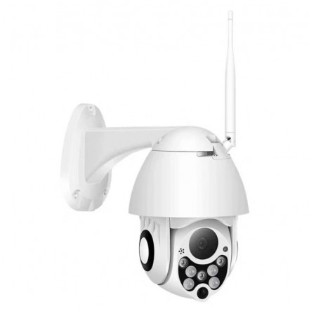 Camera De Supraveghere Exterior Smartech Self-Protect Wifi NightVision  - Alarmare - Intercom - Rotatie Motorizata (PTZ) - 128GB - HD - Monitorizare in Timp real - Instalare Rapida [H21]