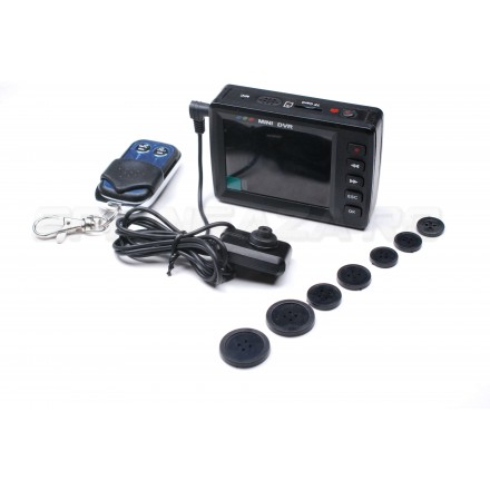 Kit PVR + Nasture cu Camera Spion AV-IN - Senzor de miscare - Telecomanda [PCT-1]