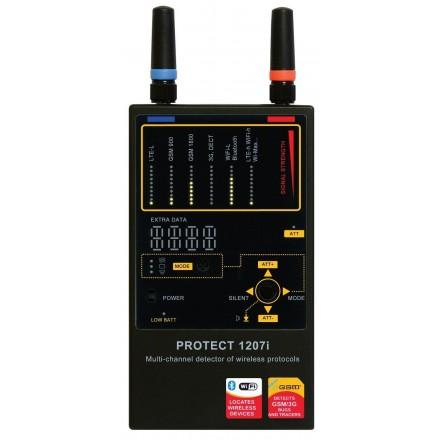 Detector Profesional de Microfoane-Camere-GPS 3G/4G/LTE/GSM/DECT/WIFI/Wi-Max Autentic TSCM [i1207]