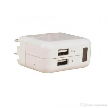 Incarcator USB 220V cu Microcamera Spion HD - 32GB - Senzor de Miscare [LW501]