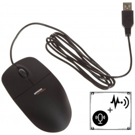 Mouse cu Microfon + Reportofon Spion - SMS Control - HiPro [PK915]