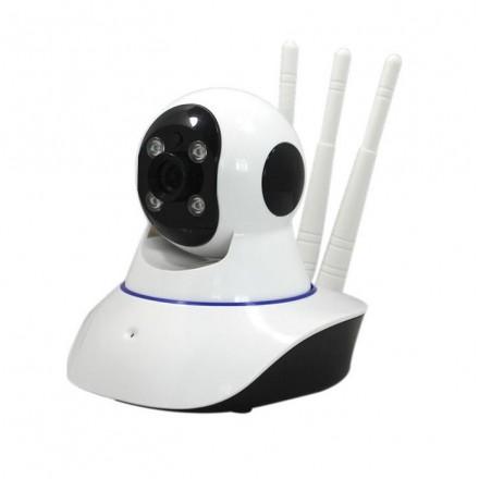 Camera De Supraveghere Smartech Self-Protect Wifi - PTZ Rotatie 360 - NightVision - Zoom 4X - Alarmare - 128GB - HD - Monitorizare in Timp real - Instalare Rapida [H15]