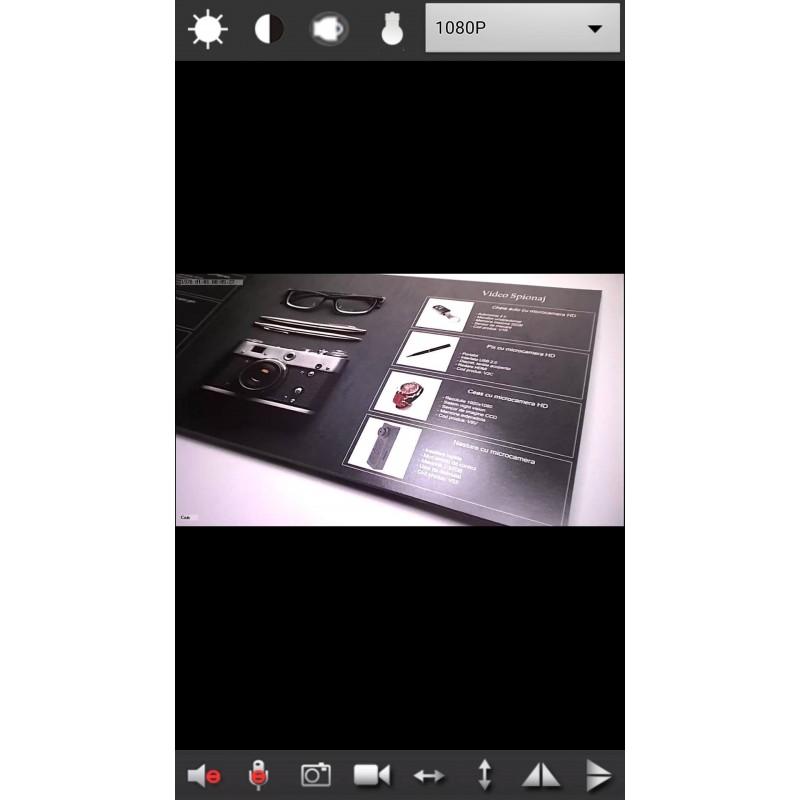 Microcamera Spion Wifi/P2P 1080P HD Nightvision IR cu Transmisie pe Telefonul Mobil - 32GB - Senzor de Miscare [MRK18]