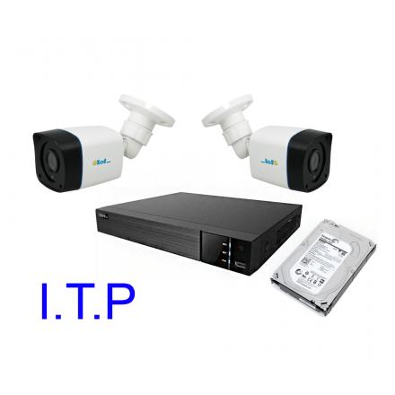 Sistem Supraveghere Video Pentru Statie ITP Q-See DVR 4CH + Doua Camere ESP 1080P IR + HDD 4TB [SIT1]